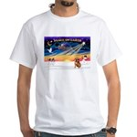 XmasSunrise/Brusels Griffon White T-Shirt