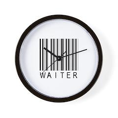 Waiter Barcode Wall Clock