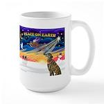 XmasSunrise/Greyhound(brin) Large Mug