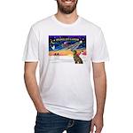 XmasSunrise/Greyhound(brin) Fitted T-Shirt