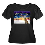 XmasSunrise/Greyhound(brin) Women's Plus Size Scoo