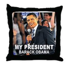 My President (Crowd) Throw Pillow