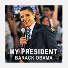 My President (Crowd) Tile Coaster