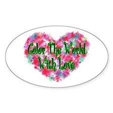Color The World Oval Decal