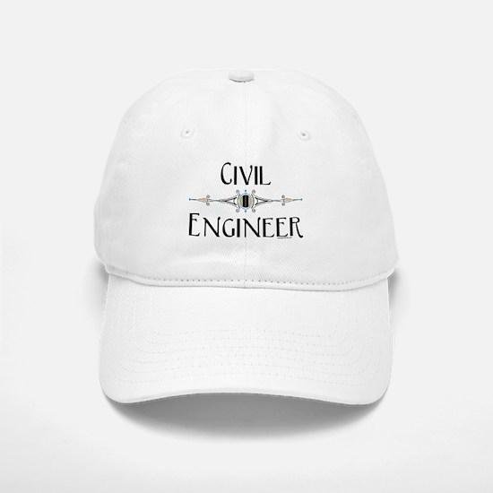 Civil Engineer Line Baseball Baseball Cap