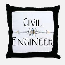 Civil Engineer Line Throw Pillow