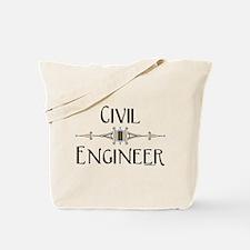 Civil Engineer Line Tote Bag