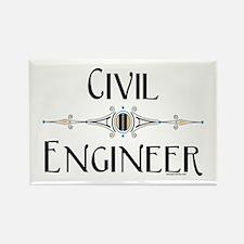 Civil Engineer Line Rectangle Magnet