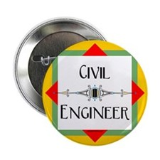 "Civil Engineer Line 2.25"" Button"