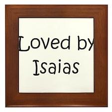 Cute Isaias Framed Tile