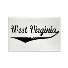 West Virginia Rectangle Magnet (100 pack)