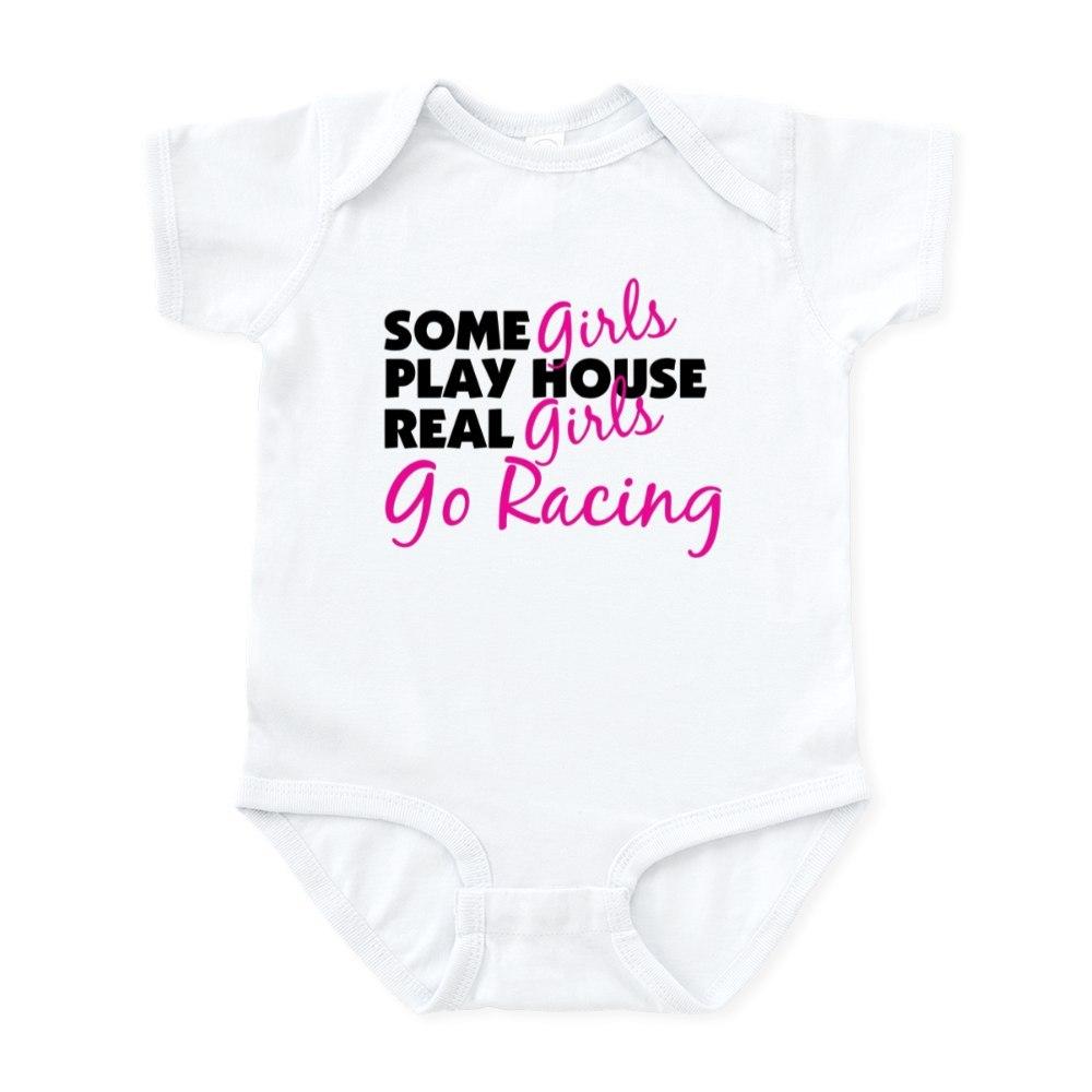 CafePress Real Girls Go Racing Infant Bodysuit