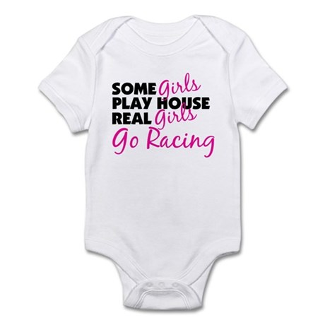 Real Girls Go Racing Infant Bodysuit