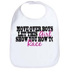 Move Over Boys Bib