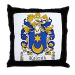 Kalenik Family Crest Throw Pillow