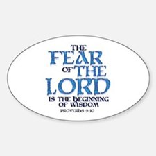 Fear of the Lord Oval Decal