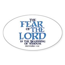 Fear of the Lord Oval Stickers
