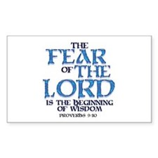 Fear of the Lord Rectangle Stickers