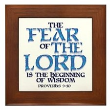 Fear of the Lord Framed Tile