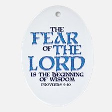 Fear of the Lord Keepsake (Oval)
