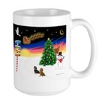 XmasSigns/2 Dachshunds Large Mug