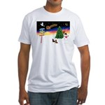 XmasSigns/2 Dachshunds Fitted T-Shirt