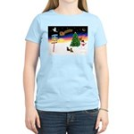 XmasSigns/2 Dachshunds Women's Light T-Shirt