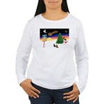 XmasSigns/2 Dachshunds Women's Long Sleeve T-Shirt