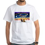 XmasSunrise/2 Dachshunds White T-Shirt