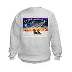 XmasSunrise/2 Dachshunds Kids Sweatshirt