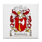 Kaminsky Family Crest Tile Coaster