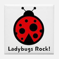 Ladybugs Rocks! Tile Coaster