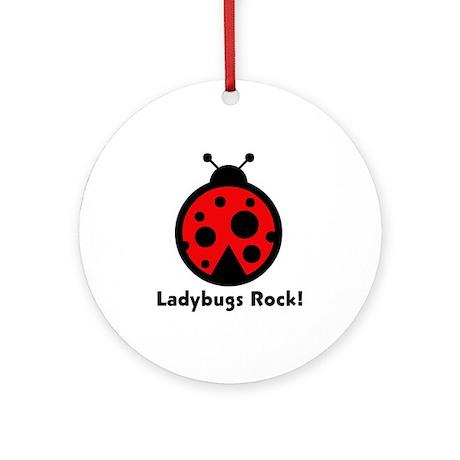 Ladybugs Rocks! Ornament (Round)