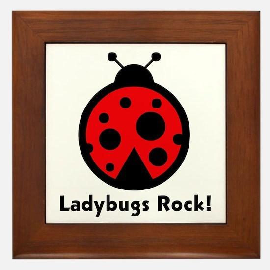 Ladybugs Rocks! Framed Tile