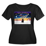 XmasSunrise/Shar Pei Women's Plus Size Scoop Neck