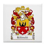 Kilinski Family Crest Tile Coaster