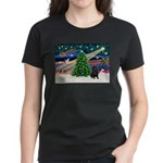 XmasMagic/ Shar Pei Women's Dark T-Shirt