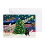XmasMagic/ Shar Pei Greeting Card