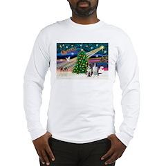 XmasMagic/2 Border Collies Long Sleeve T-Shirt