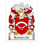 Konarski Family Crest Small Poster