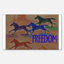 Horse FREEDOM Rectangle Decal