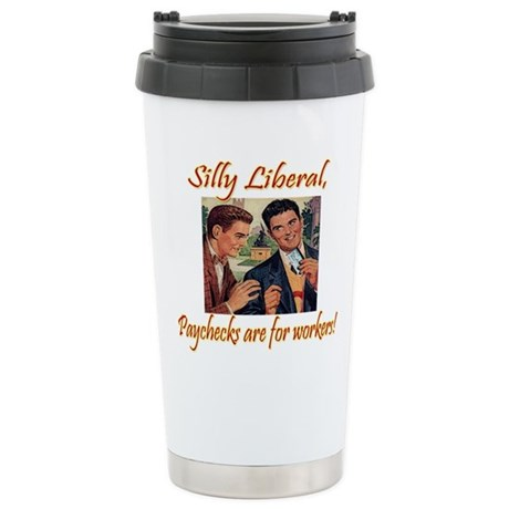 Silly Liberal Stainless Steel Travel Mug