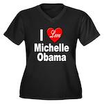 I Love Michelle Obama (Front) Women's Plus Size V-