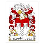 Koslowski Family Crest Small Poster