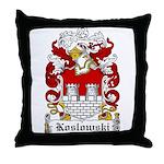 Koslowski Family Crest Throw Pillow