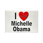 I Love Michelle Obama Rectangle Magnet (10 pack)