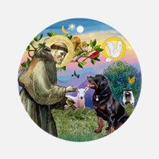 Saint Francis & Rottweiler Keepsake (Round)
