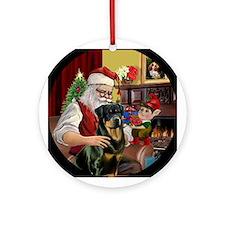 Santa's Rottie Keepsake (Round)
