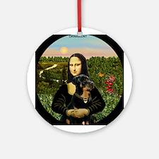 Mona Lisa's Rottweiler Keepsake (Round)