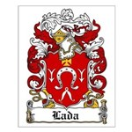 Lada Family Crest Small Poster